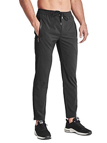 BIYLACLESEN Training Pants Men Slim Fit Pants for Men Gym Pants Men Lightweight Pants for Men for Summer Big and Tall Black