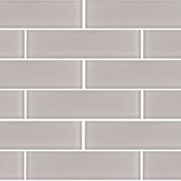 3x12 Taupe Crystal Glass Subway Tile For Kitchen Bathroom Shower