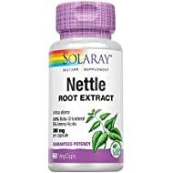 Solaray Nettle Root Extract 300mg   Healthy Male Urinary & Prostate Support   Guaranteed Potency Amino Acids & Beta-Sitosterol   Non-GMO   60 VegCaps