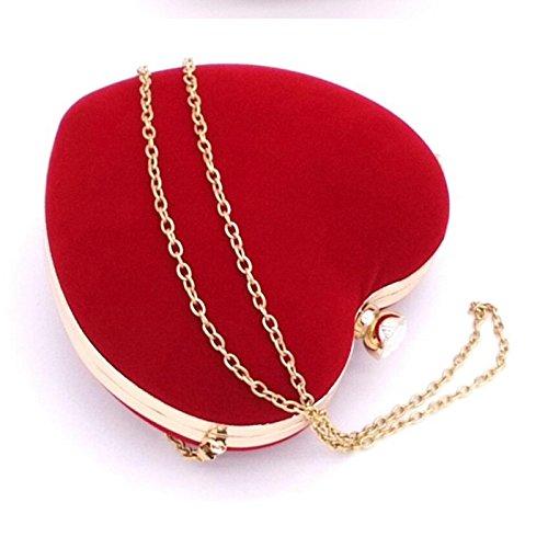 Handbags Top Bag Heart Nodykka Body Velvet Handle Rhinestone Blue Clutch Wedding Evening Party Cross gWwf67