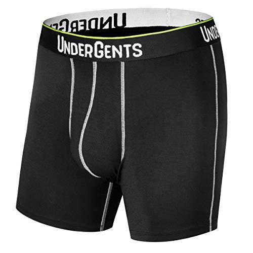 UnderGents Men's Boxer Brief Underwear. CloudSoft Cooling Comfort Without Compression (Black Size: XL) (Planet Underwear)