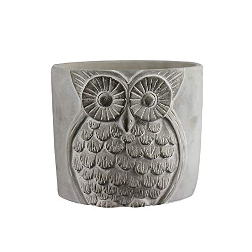 Silicone Mold for Cement Vase Tool Circular with Owl Pattern Concrete Flowerpot Mould by nicole (Image #6)