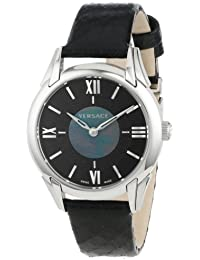 """Women's VFF010013 """"Dafne"""" Stainless Steel Dress Watch with Leather Band"""