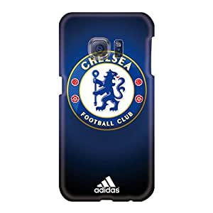 Protector Hard Cell-phone Case For Samsung Galaxy S6 (CoM4628Ikgf) Unique Design Realistic Chelsea Fc Pattern