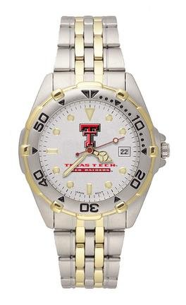 Texas Tech Red Raiders Men's All Star Watch Stainless Steel Bracelet (Texas All Star Stainless Steel)