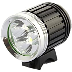 Katia Linterna Lámpara Frontal Cabeza Cree XM-L T6 3 LED 4200LM Luz Blanco Camping