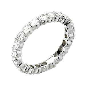 14k White Gold 2 CTW Diamond Eternity Band - Size 8