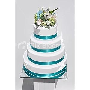 White Anemone, Pink Rose & Hydrangea Wedding Cake Topper 99