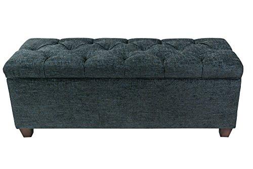 MJL Furniture Designs DUODAtlasMidnght Sole Secret Duo Shoe and Linen Storage Bench Midnight ()