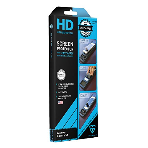 iShieldz HD High Definition Screen Protector with Easy Apply for Samsung Galaxy S5 - Retail Packaging - Clear