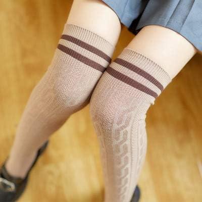 Home+Love+L Stockings Sexy Rodilla Medias rayó Calcetines de algodón Mujeres de Alta del Muslo sobre la Rodilla Medias de la Manera señoras de Las Muchachas Medias largas Calientes: Amazon.es: Hogar