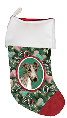 Best of Breed Greyhound Brindle Dog Breed Christmas Stocking