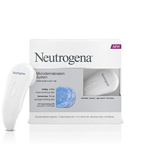 Neutrogena Microdermabrasion Starter Kit – At home microdermabrasion machine – Skin Exfoliator with Glycerin – Skin…