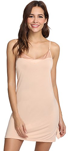 GYS Womens Bamboo Viscose V Neck Full Slip (XX-Large, Beige)