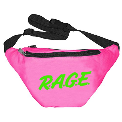 [Funny Guy Mugs RAGE Fanny Pack, Neon Pink] (Ideas For Halloween Costumes For Guys)
