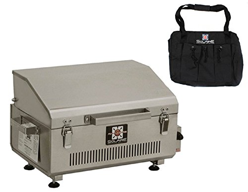 Solaire Stainless Steel Portable Grill - Solaire Anywhere Portable Infrared Propane Gas Grill, Stainless Steel With Free Carrying Bag