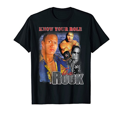 WWE Dwayne ''The Rock'' Johnson Image Know Your Role T-Shirt by WWE