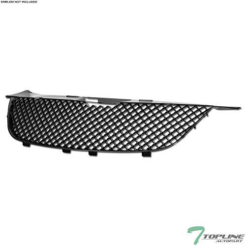 Topline Autopart Matte Black Mesh Front Hood Bumper Grill Grille ABS For 07-10 Chrysler Sebring