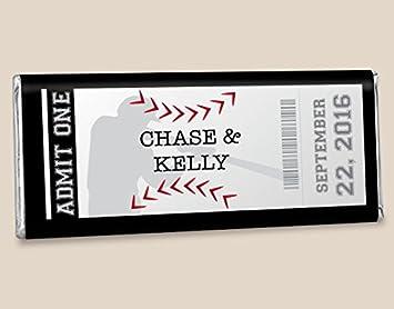 Amazon.com : Custom HERSHEY\'S Bar Baseball Themed Wedding Favors ...