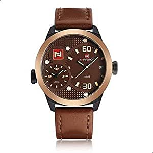 Naviforce Casual Watch For Men Analog Leather NF9092 - Rose Gold