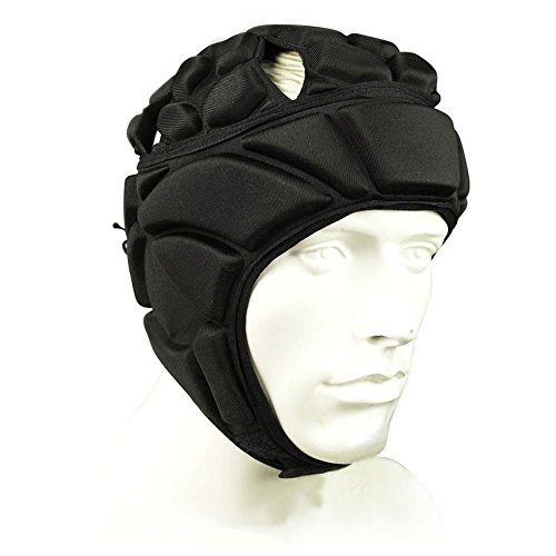 COOLOMG Men's Sport Goalkeeper Adjustable Soccer Goalie Helmet Head Protector Support (Goalie Foam)