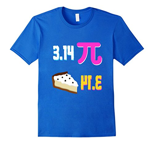 Mens Funny National Pi Day T Shirt Maths Student Teacher School Small Royal Blue