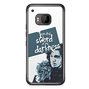 Game of thrones HTC One M9 Transparent Edge Case - Jon Snow