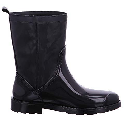 Boot et Rain de Pluie Noir Camo Femme Tommy Shiny Bottines Bottes Black 990 Hilfiger HZtxw