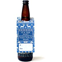 Beer Greetings - Big Bottle Gift Tags (Holiday Sweater - Set of 4)