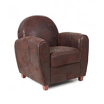 Unbekannt Bristol Sessel Club Microfaser Vintage Braun Amazon De