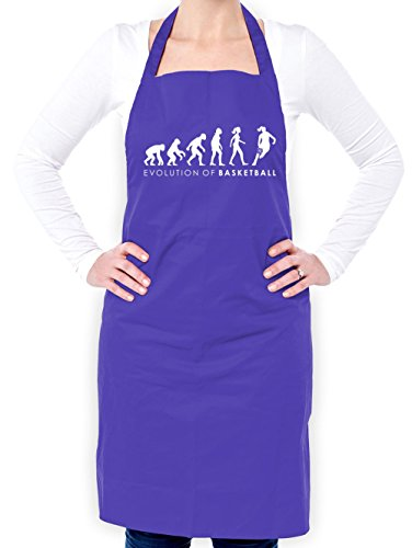 Evolution of Woman - Basketball - Unisex Fit Apron - Purple - One Size by Dressdown