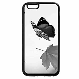 iPhone 6S Plus Case, iPhone 6 Plus Case (Black & White) - Autumn Falling Softly