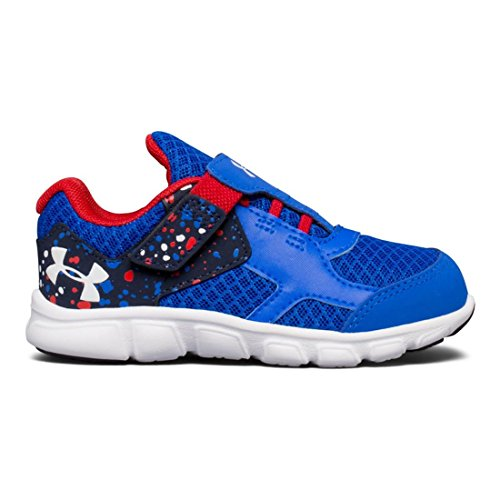 382edd419eda Under Armour Kids Baby Boy s UA BINF Thrill RN AC (Infant Toddler) Ultra  Blue Red White Athletic Shoe