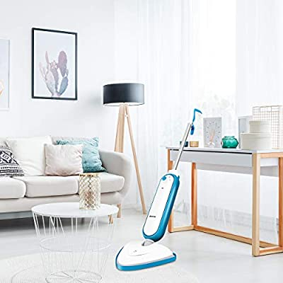 COSTWAY Steam Mop, Floor Steamer, Floor Cleaner for Tile, Hard Wood Floor, Carpet with 2 Mop Pad, 13Oz Tank, 16.5FT Cord
