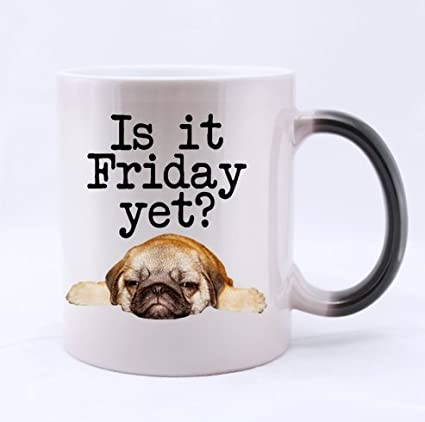 Amazon.com: Is it friday yet? funny quotes 100% Ceramic 11 ...