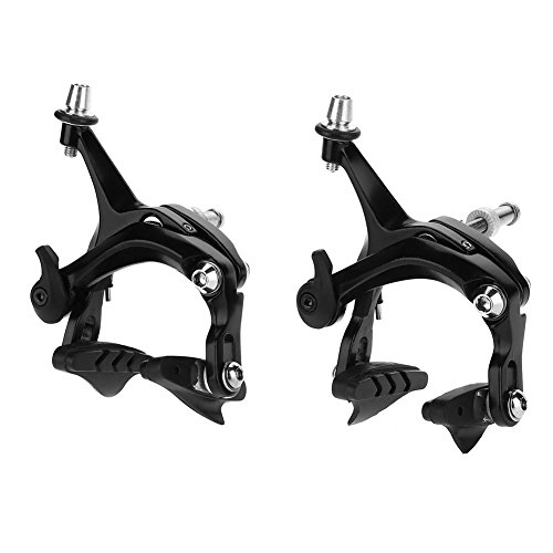 Wbestexercises Bicycle Brake Lever,1 Pair Aluminum Alloy V Shape Mountain Road Bike Brake Lever, V Shape Bike Brakes Levers, Mechanical Dual-Pivot Brake Set Repair Parts Accessory