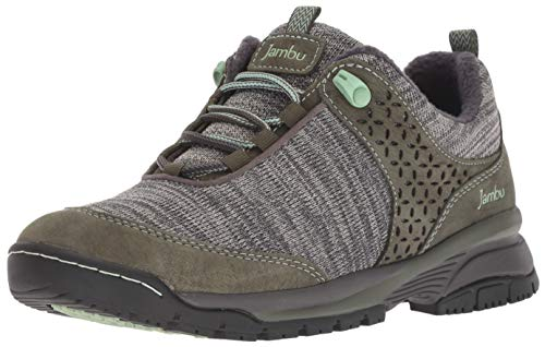 Jambu Women's Zora Water Resistant Ankle Boot, Olive/Charcoal, 7 M US