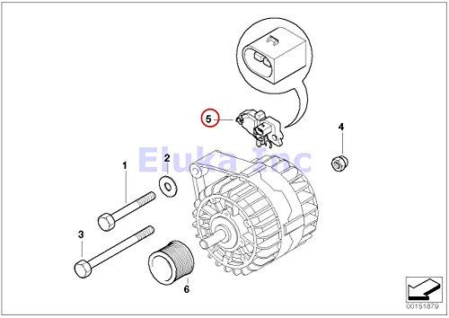 bmw oem engine electrical alternator generator voltage