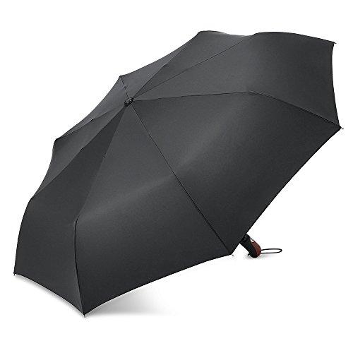 Plemo Automatic Open/Close Umbrella Wind-Waterproof, 50.5 In 8 Fiberglass -