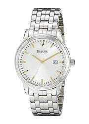 Bulova Men's 96B196 Analog Display Quartz Silver Watch