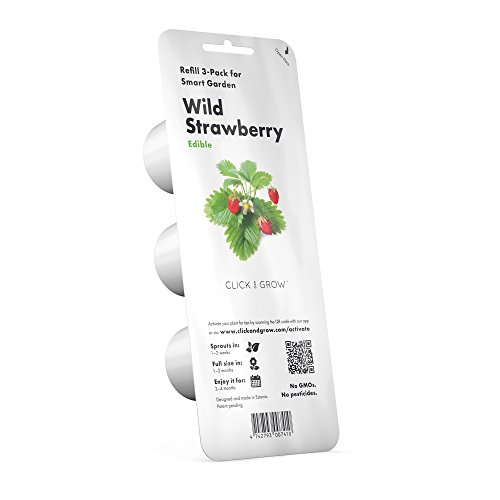 Click & Grow Wild Strawberry Refill 3-Pack for Smart Herb Garden (Grow Seeds Strawberry)