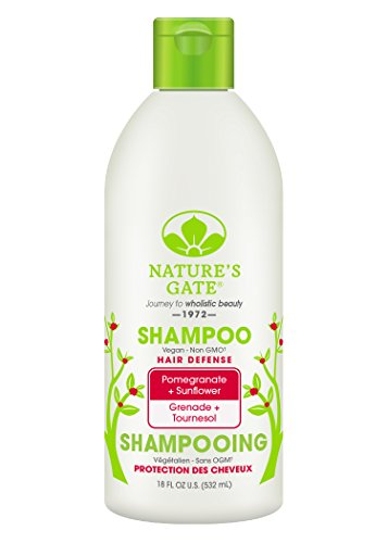 Nature's Gate Natural Pomegranate and Sunflower Defense Daily Shampoo for Damaged Color Treated Hair, Jojoba Oil; Vegan, Non GMO, Gluten Free, Soy Free, Paraben Free, Cruelty Free, 18 Ounce(Pack of 3) - Pomegranate Sunflower Hair Defense