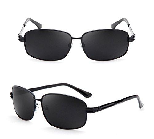 A C para UV cuadradas de los Gafas contra Rayos Gafas Hombre Color Gafas sol Gafas polarizadas Hombre de sol TFqBU