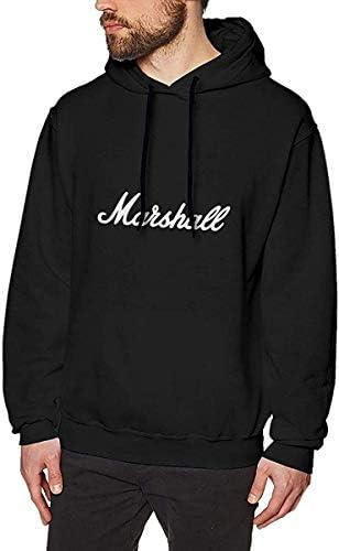 メンズ Marshall Amplification コットン スウィートシャツ Black 男性独特のデザインのカーディガン