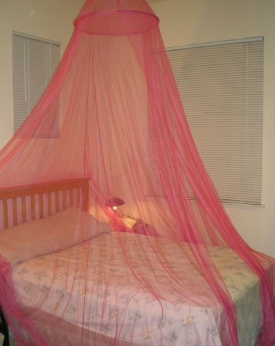 Octorose ® Hot Pink Hoop Bed Canopy Mosquito Net Fit Crib Twin Full & Amazon.com: Octorose ® Hot Pink Hoop Bed Canopy Mosquito Net Fit ...