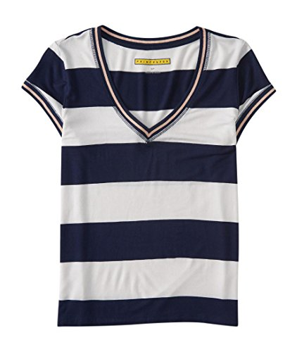 Aeropostale Rugby (Aeropostale Women's Prince & Fox Rugby V-Neck Ringer Tee Shirt M Classic)