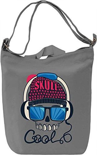 Cool skull Borsa Giornaliera Canvas Canvas Day Bag| 100% Premium Cotton Canvas| DTG Printing|