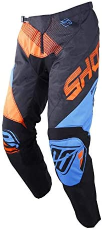 SHOT Pantalon Cross Kid Devo Ultimate Taille 4//5a Bleu//N/éon Orange
