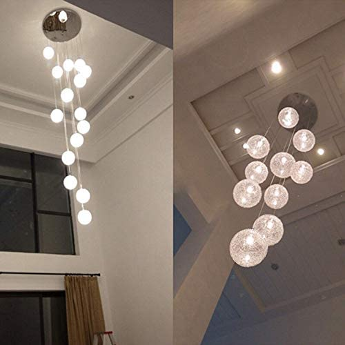 Modern Large LED Chandeliers Stair Long Globe Glass Ball Ceiling Lamp with 10 Balls Light Fitting Fixture avize Home Lighting