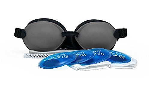 Tranquileyes Warm Compress for Moderate Dry Eye Relief with Self-Heating Instants (Charcoal) ()